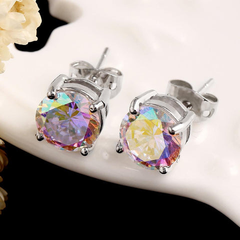 6MM Colored Korean Earrings