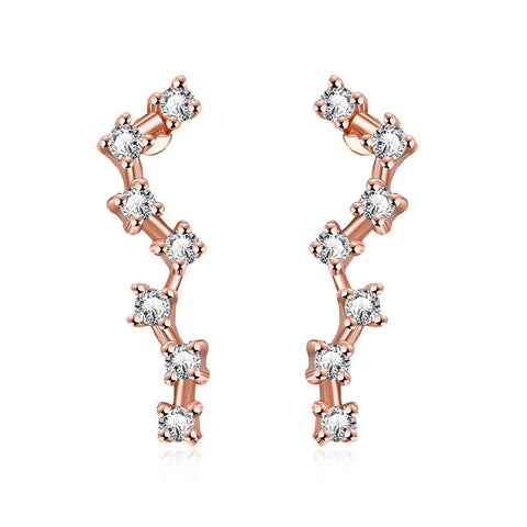 Rose Gold Plated Angular Crawlers