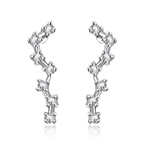 White Gold Plated Angular Crawlers