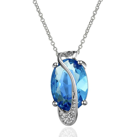 Majestic Mock Sapphire Necklace