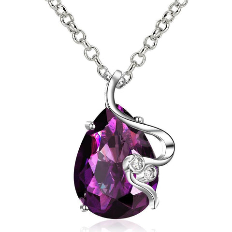 Purple Shiny Swarovski Necklace