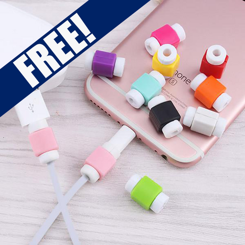 FREE ! Colorful QUICK Charging & Data Cable for iPhone + Cable Protector
