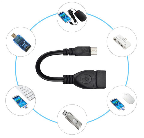 USB OTG Cable - Micro USB to USB Adapter