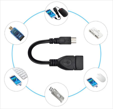 USB OTG Cable, Micro USB to USB Adapter