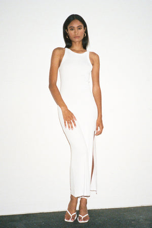 LNA Candi Rib Dress - White
