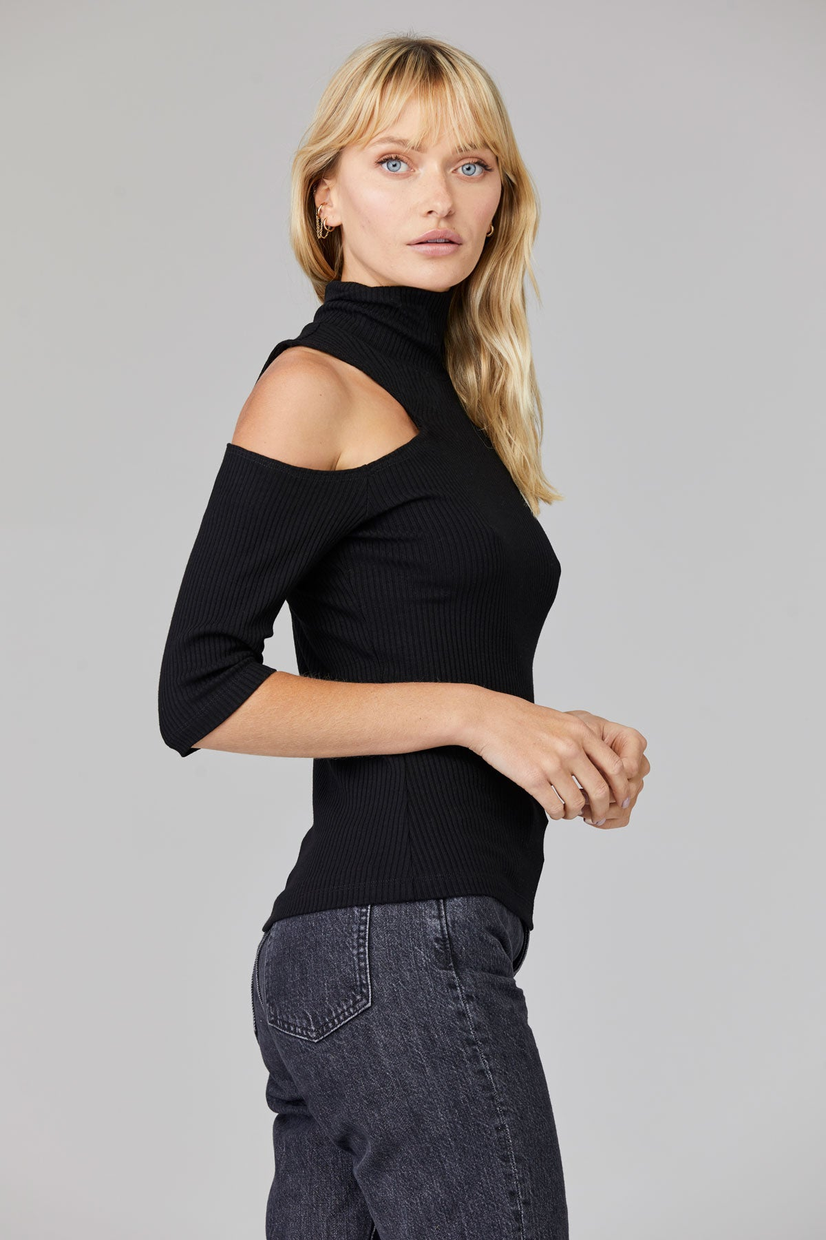 LNA Amira Rib Top in Black
