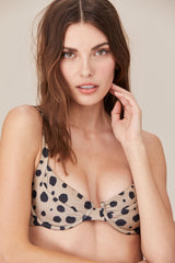 LNA Underwire Celine Bikini Top in Cheetah Print