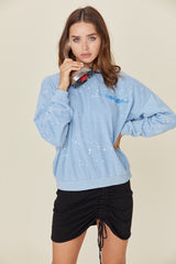 LNA Blue Aviator Sweatshirt