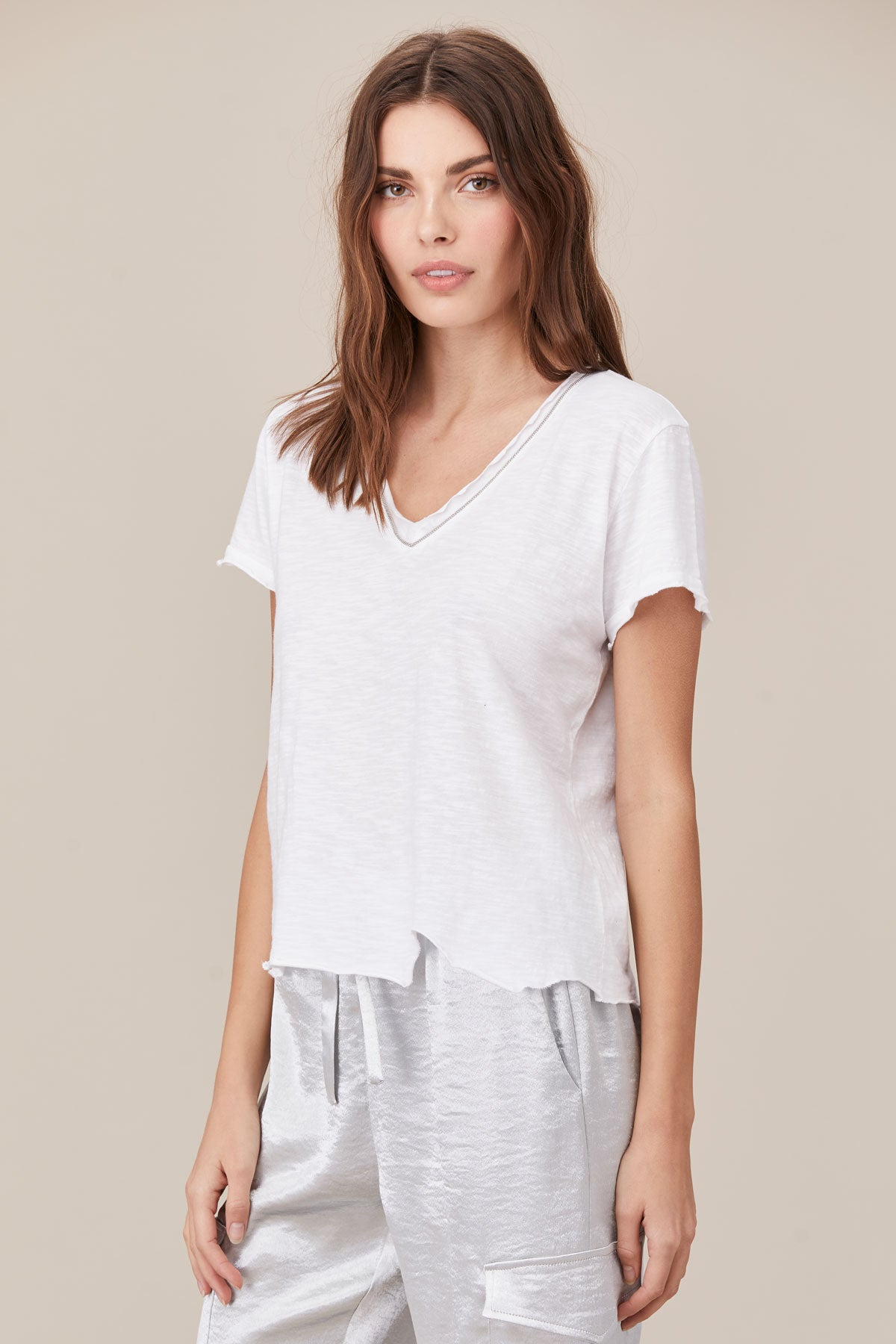 LNA Ayla Tee in white