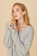 LNA Brushed Bitten Sweater in Grey