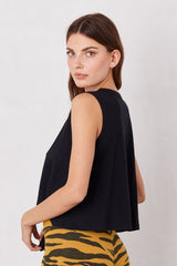 LNA Cape Tank Top in Black