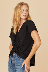 LNA Casey Cinched Front Tee