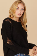 LNA Black Alpaca Sweater