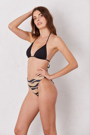 LNA Swim Black Etna Triangle Bikini Top