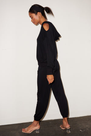 LNA Brushed Terry Sweat in Black