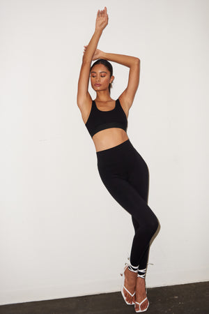 LNA Black High Rise Legging