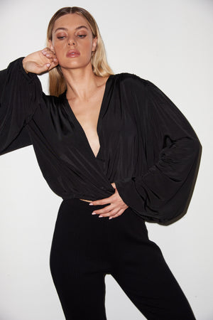 LNA Black Maple Blouse in Black