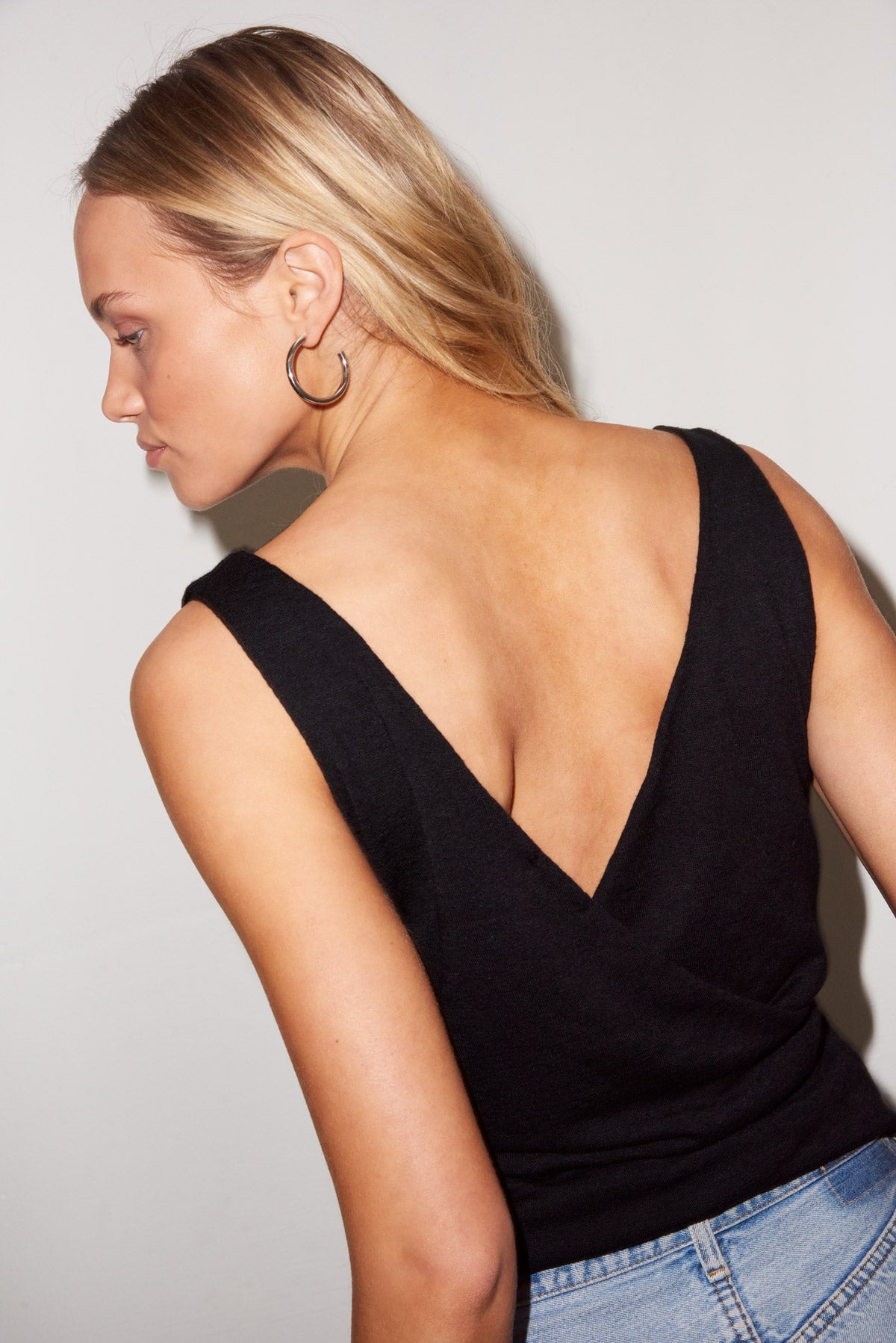 LNA Margoux Tank Top in Black