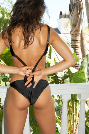 Margot Ring Bottom - Black Rib