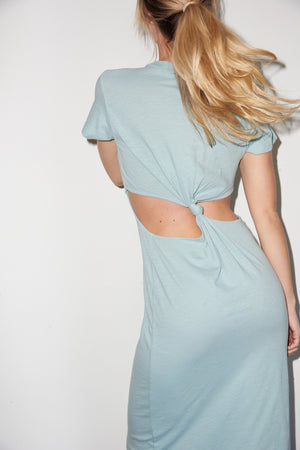 LNA Mayer Tee Dress in Surf Blue