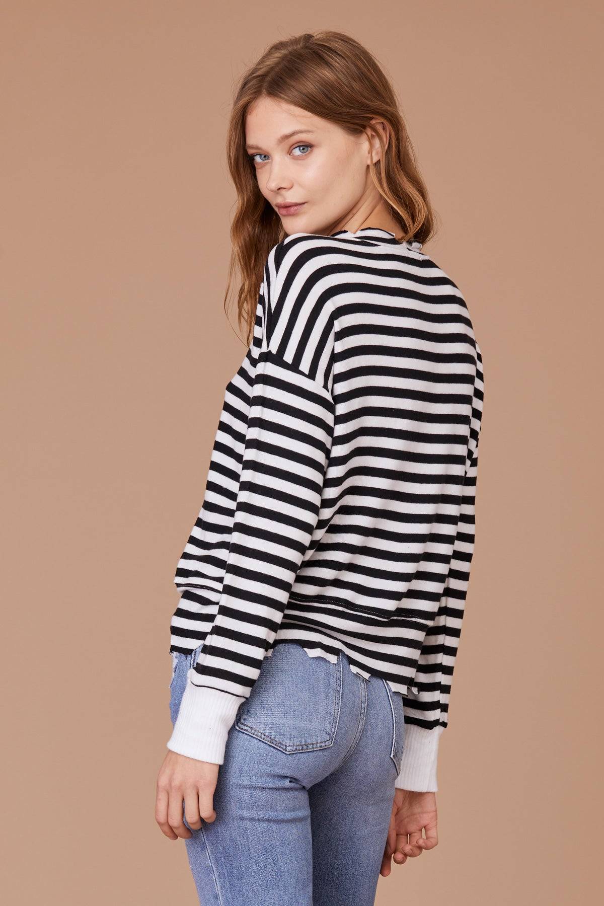 LNA Duncan Pullover striped sweater