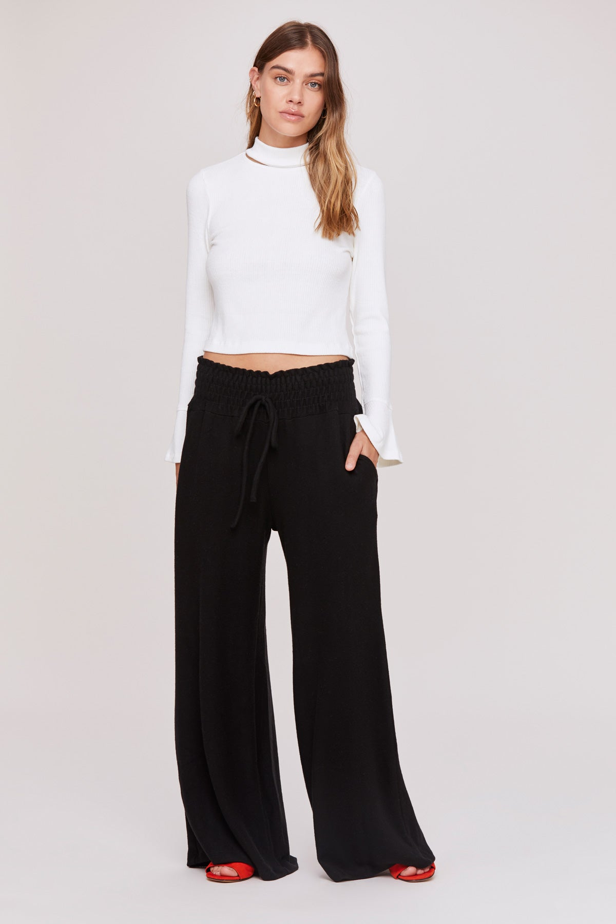 LNA Brushed Helen Sweatpant in Black