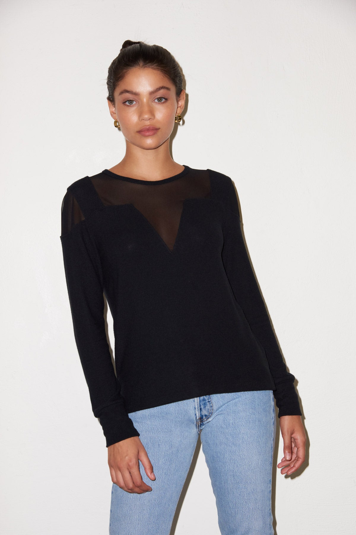 LNA Brushed Jessica Sweater in Black