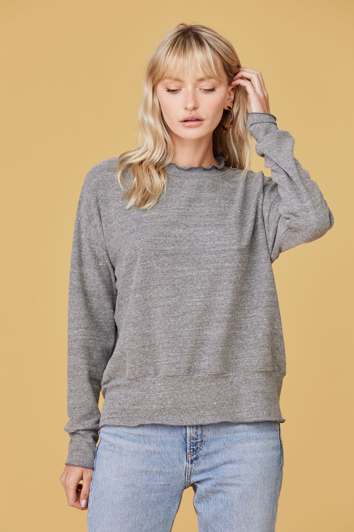 LNA Nora Sweater in Heather Grey