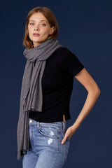 LNA Grey Brushed Scarf