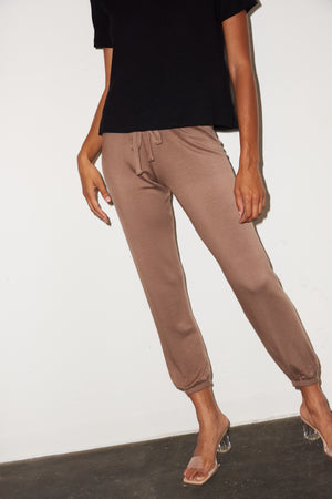 LNA Brushed Terry Jogger in Taupe