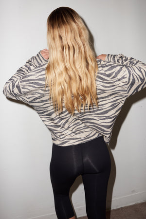Aliza Turtleneck - Zebra