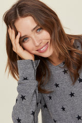 LNA Grey Star Sweatshirt
