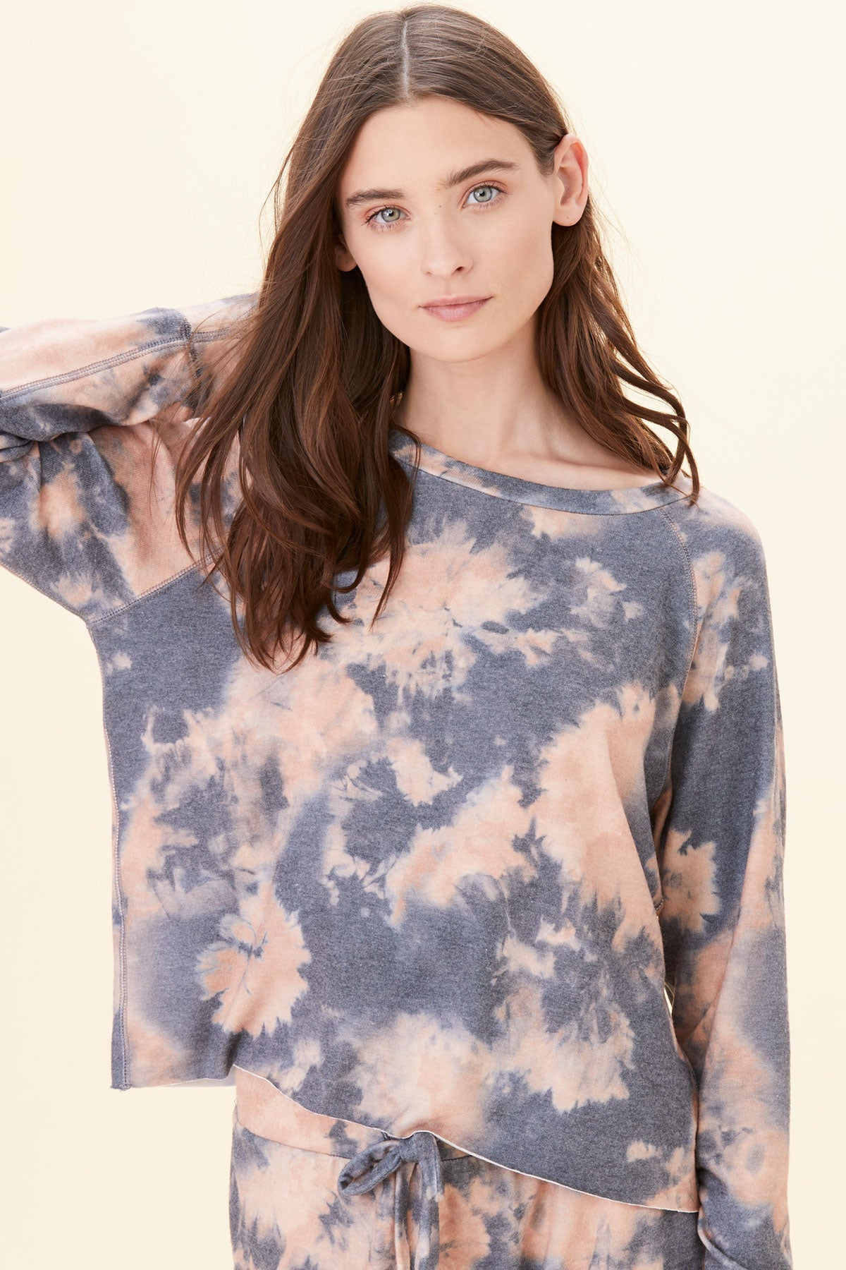 LNA Brushed Tie Dye Pullover Sweater