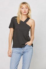 LNA Clothing Cana Tee in Pirate Black