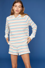LNA Brushed Carly Hoodie with Rainbow Stripes
