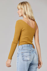 LNA Ribbed Char Top in Cumin
