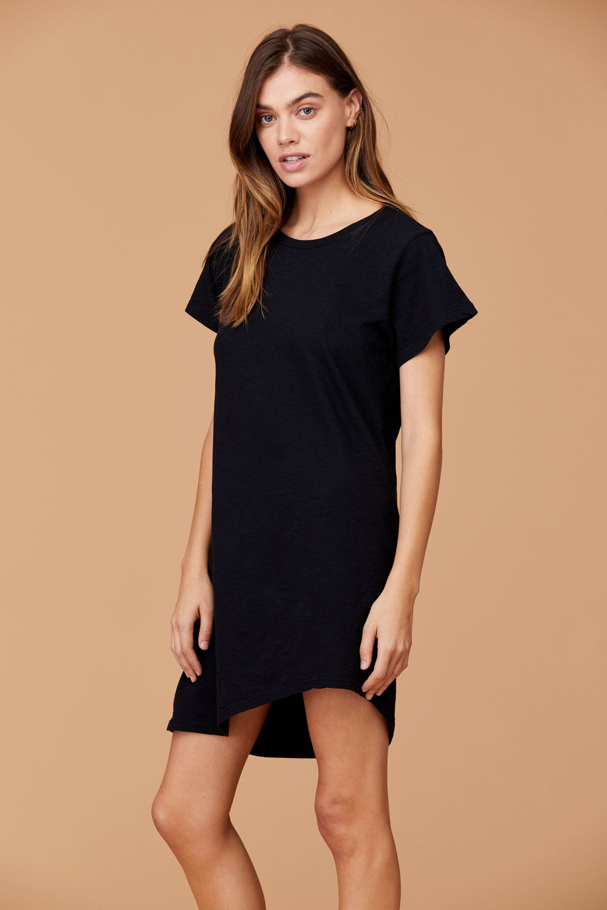 LNA Clea Tee Shirt Dress with back cutout