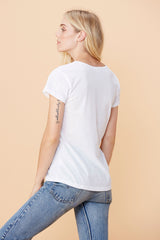 Cross Tee - White