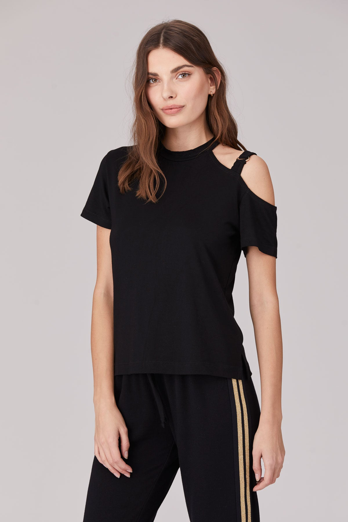 LNA Crystal Cutout Top in Black