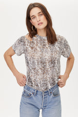 LNA Python Snake Print Burnout Trigger Tee with cutout