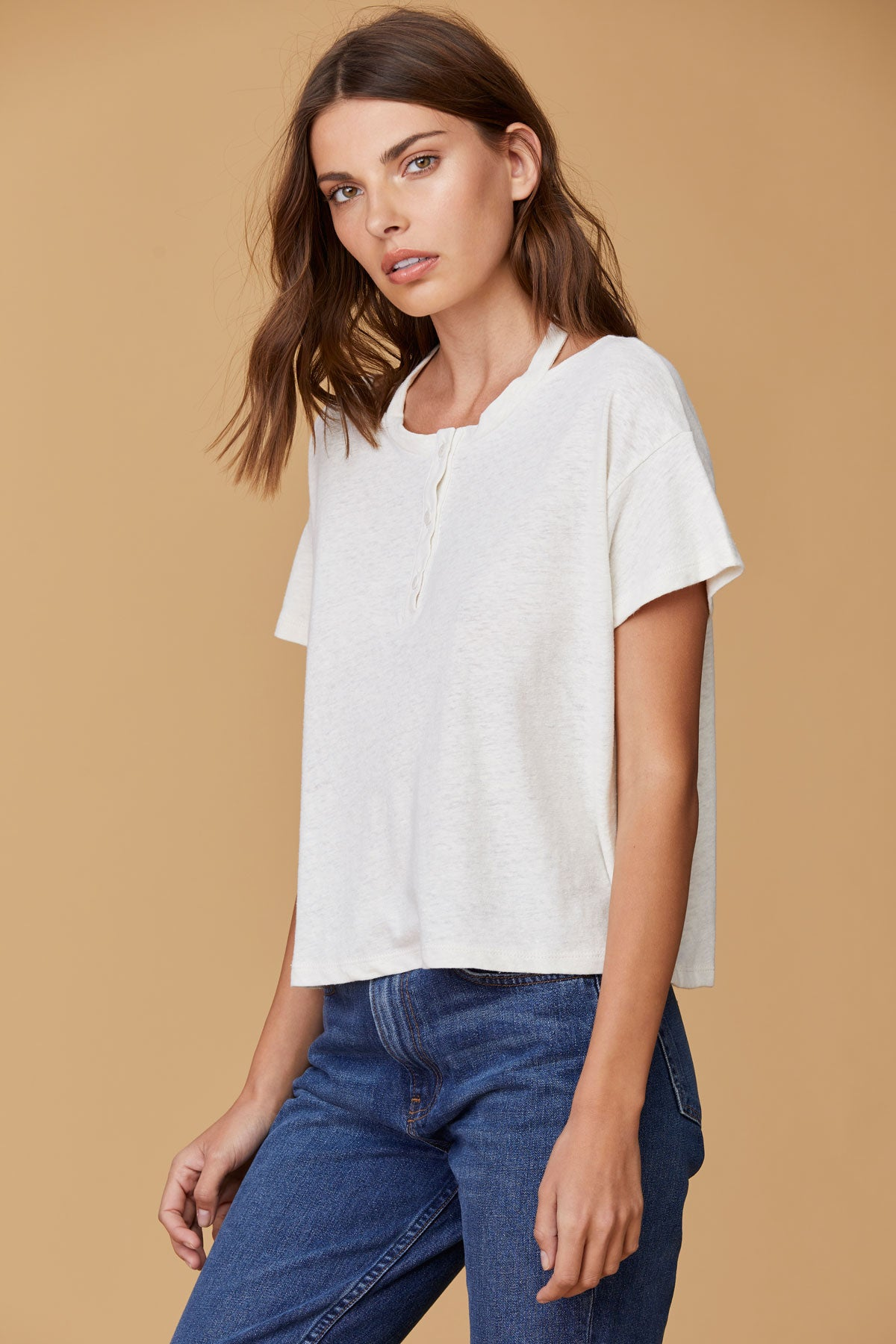LNA Fauna Tee with cutout back