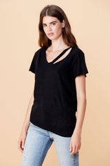 Fallon V Neck - Black
