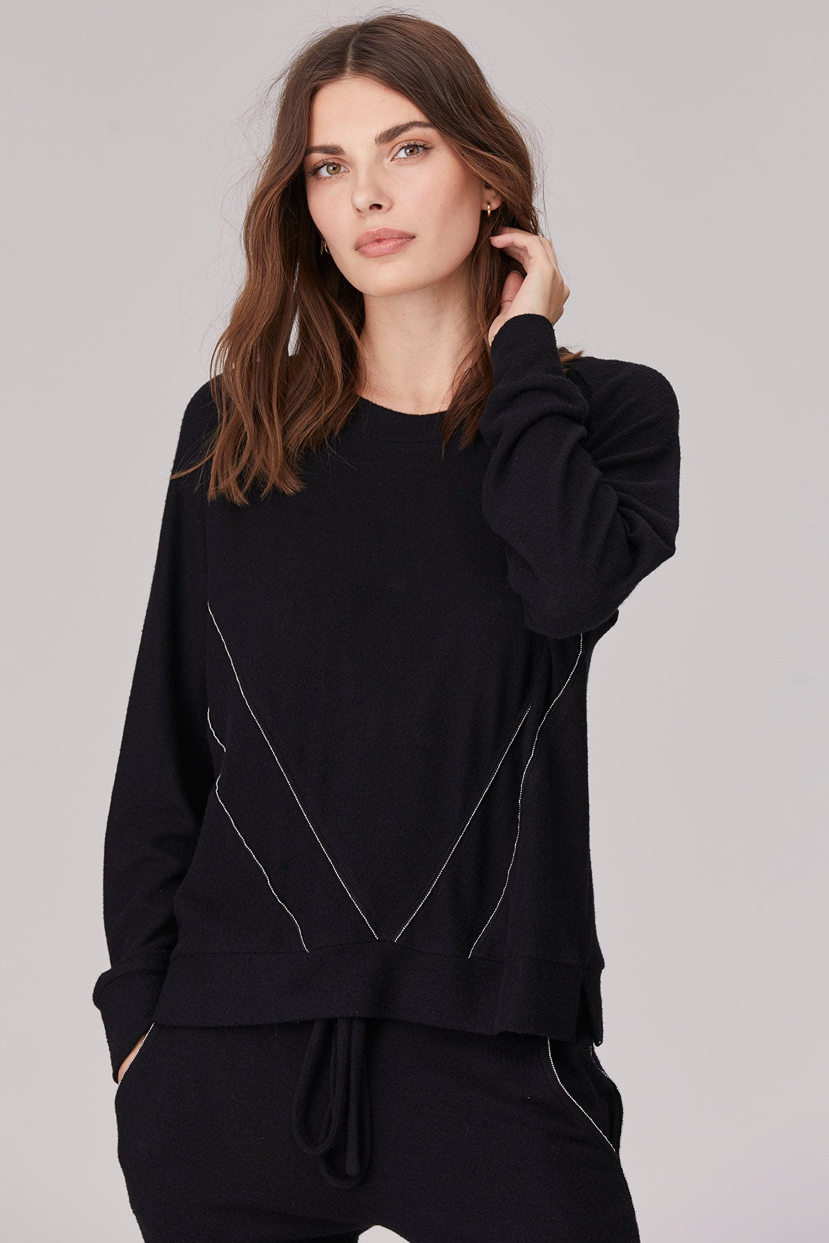 LNA Brushed Gemini Top in Black