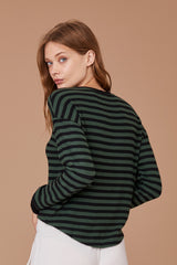 LNA Brushed Rina Striped Cropped Sweater