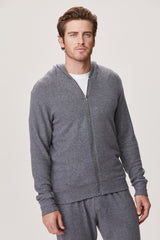 LNA Men's Brushed Zip Up Hoodie Sweater