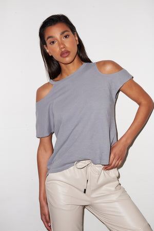 LNA Alex Tee in Monument Grey
