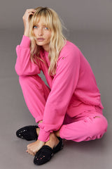 LNA Highway Sweatshirt in Magenta Pink