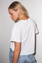 LNA White Hook and Eye Front Tee
