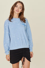 LNA Aviator Sweatshirt in Blue