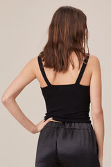 LNA Katherine Tank in Black